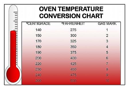 Kitchen Fridge Magnet Temperature Conversion Chart 9cm X 6cm Jumbo