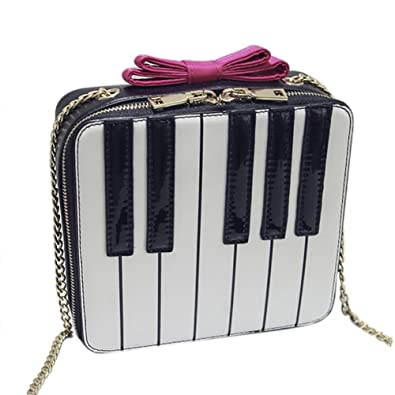 Amazon.com: QZUnique – de niña linda forma de piano bolsa ...