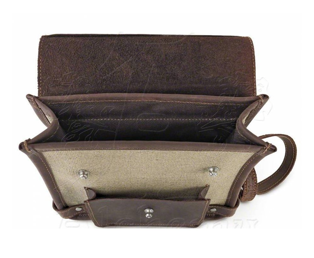 Steampunk Brown Canvas and Leather Wing-Commander's Attache Pouch by Alchemy Gothic by Alchemy Gothic (Image #6)