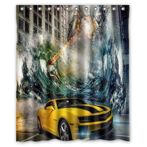 Custom Popular Shower Curtains Transformers Bumblebee Shower Curtains  60u0026quot; X 72u0026quot;Inch Home Bathroom