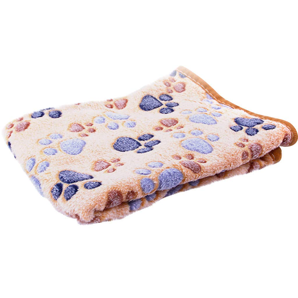 Personalized Blankets for Cat Small Dog Pet Blanket Warm Dog Cat Fleece Blankets Sleep Mat Pad Bed Cover with Paw Soft Blanket for Kitten Puppy and Other Small Animals Dog Blanket