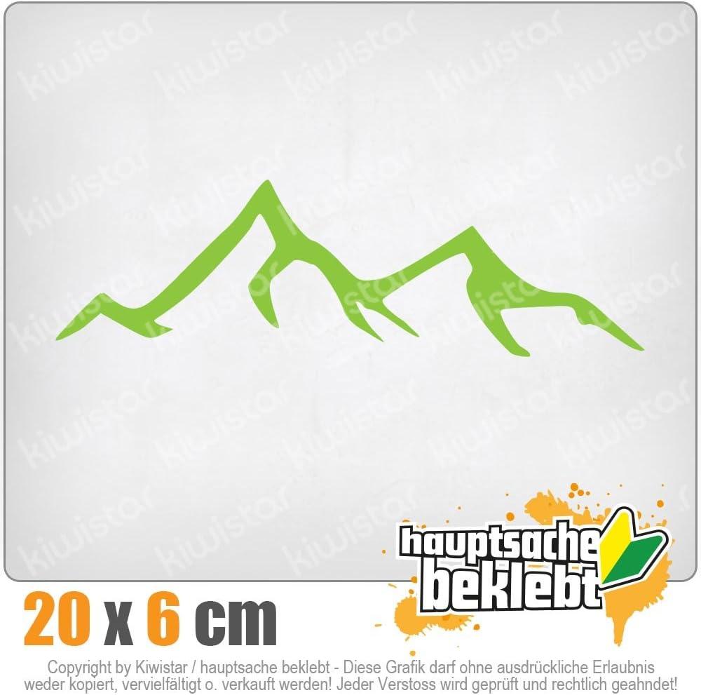 Chrom Sticker Aufkleber Kiwistar Wanderer Bergsteiger 20 x 6 cm IN 15 Farben Neon