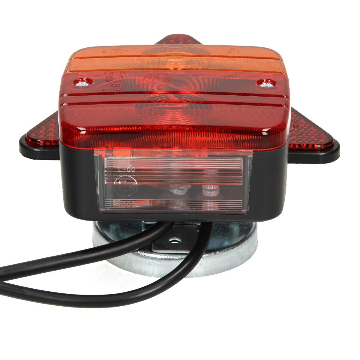 mit E11 Pr/üfzeichen wasserdicht ECD Germany Beleuchtungssatz f/ür Anh/änger mit Magneten 12 V Anh/ängerbeleuchtung R/ückleuchten R/ückstrahler verkabelt mit 7-poligem Stecker