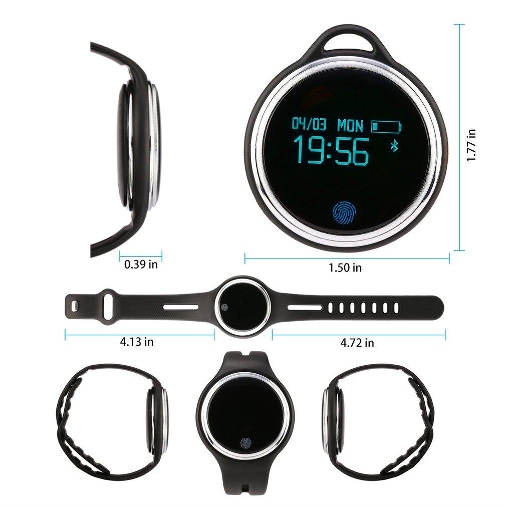 Reloj inteligente, leshp Fitness Rastreador de actividad cardiofrequencemetre etanche i5 Plus reloj deporte pulsera inteligente Bluetooth SmartWatch para ...