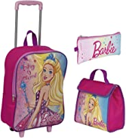 Kit Mochila Rodinhas Barbie Dreamtopia + Lancheira + Estojo