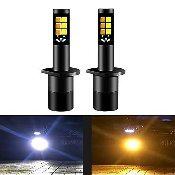Diesel AutoZone H1 Led Bombillas de Luz de Niebla 35W 3800LM 6000K Luz Blanca/3000K