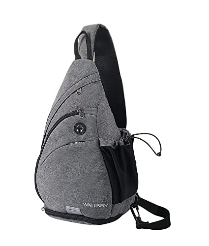 225ac89516 WATERFLY Sling Bag Backpack Small Chest Bags for Men Women Crossbody Bag  Traveling Camping Cycling Hiking Daypack Trekking Backpack