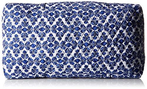 Women's Large Duffel, Signature Cotton, Cobalt Tile by Vera Bradley (Image #3)
