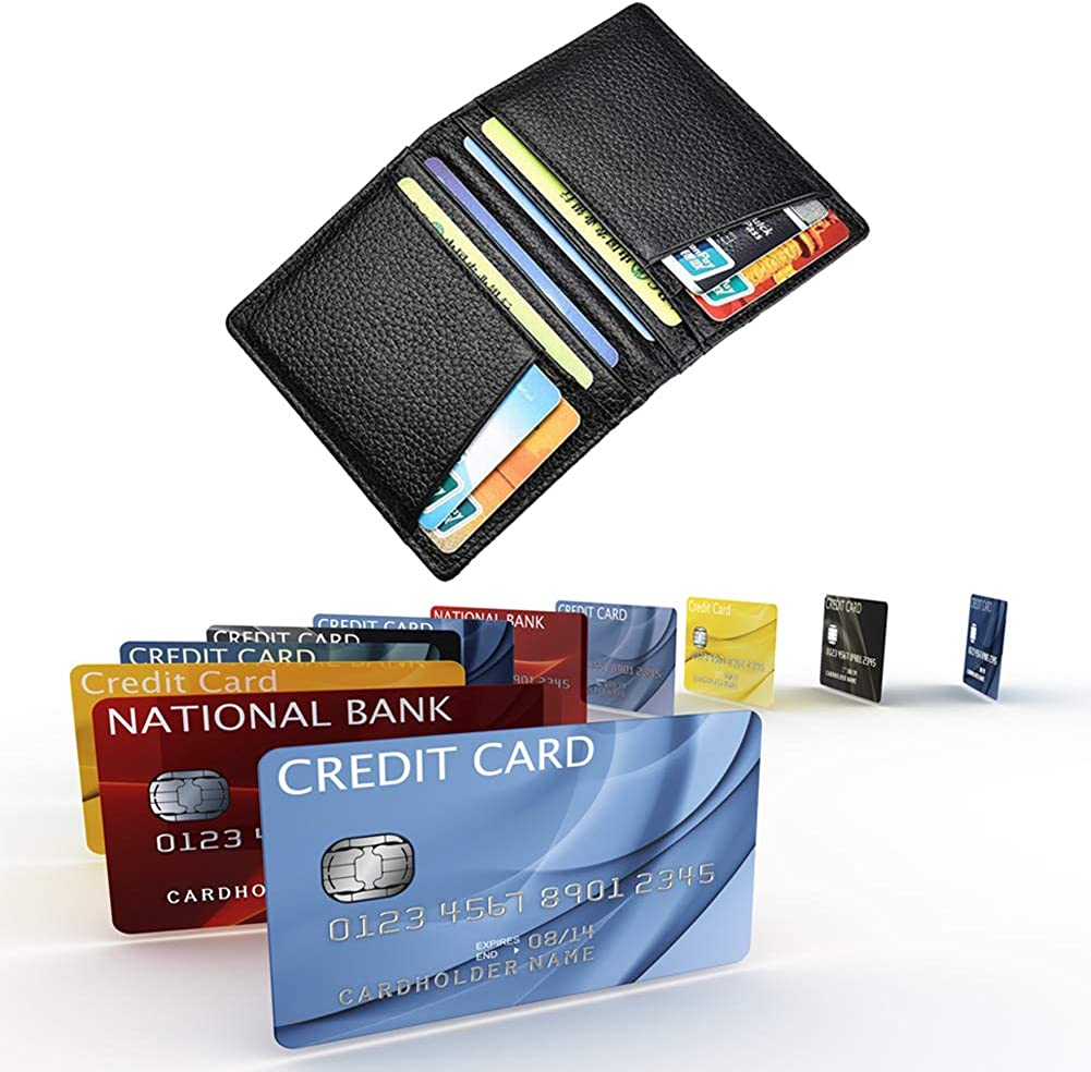 leiwo Slim Minimalist Wallet RFID Blocking Secure Card Holder-Double-Sided Dual-Use Fashion Smart Card Holder