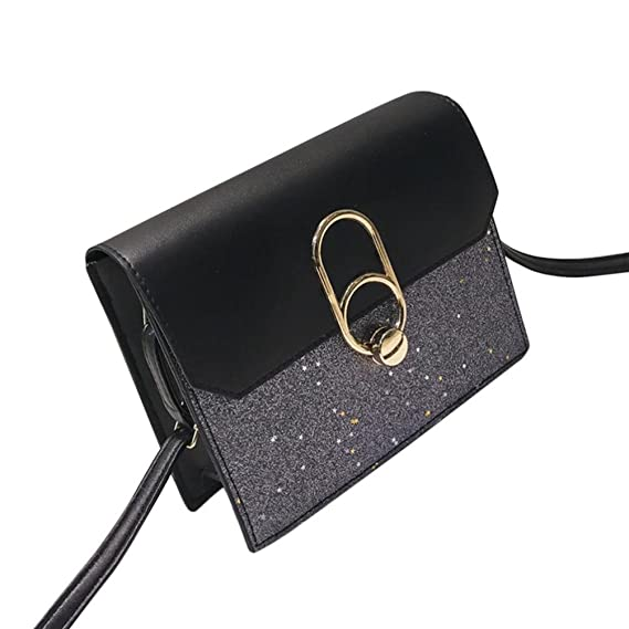 Las mujeres de la manera Bling lentejuelas Crossbody Bag Shoulder Bag Messenger Bag ☚Longra