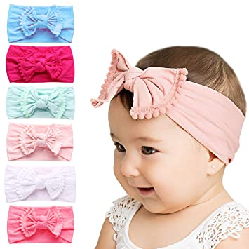ff81199c95215 Baby Girl Headbands And Bows - Subesty Nylon Headband Hair Accessories For Newborn  Infant Toddlers Kids