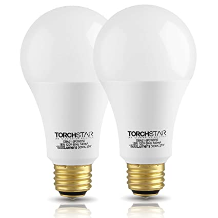 Torchstar 3 Way 4060100w Equivalent Led A21 Light Bulb Energy