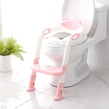 Orinal de viaje para ni/ños peque/ños orinal port/átil para ni/ños y ni/ñas talla /única Pink Girl asiento de inodoro plegable para entrenamiento