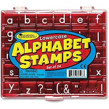 Amazon.com: Melissa & Doug Wooden Alphabet Stamp Set - 56 Stamps ...
