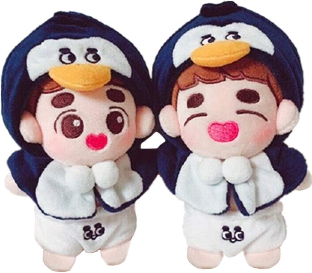 Amazon Com Vogueming Cute 15cm 6 Kpop Exo Plush D O Doll Toy Panties Cape Doh Kyungsoo Xmas In Stock Limite Gift A Toys Games