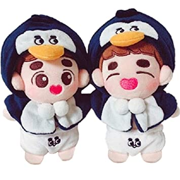 Amazon.com: VogueMing Kpop EXO - Peluche (5.9 in) Muñeca ...