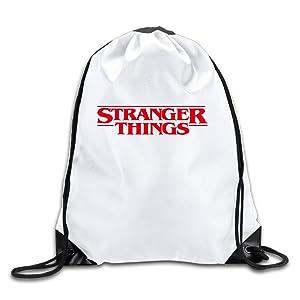 TV Series Stranger Things Logo Drawstring Backpack Sports Bag For Men And Women