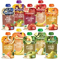 Happy Baby Organics Clearly Crafted Baby Food Pouches Variety Pack, 4 Ounces, 10 Count