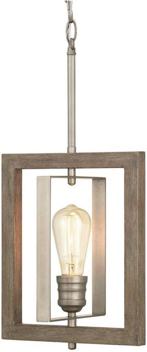 Home Decorators Collection Palermo Grove 1-Light Antique Nickel Mini Pendant
