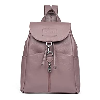 0ae670fbf Amazon.com: Cluci Women Leather Backpack Purse Satchel Shoulder School Bags  For College Taropurple: Clothing