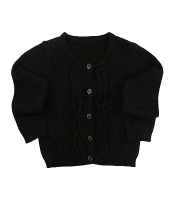 b706b1623b7 RuffleButts Baby/Toddler Girls Ruffled Long Sleeve Cardigan
