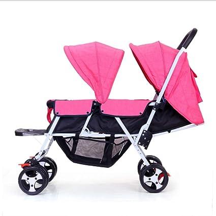 QZX Cochecito Doble Ligero para dúo de bebés y niños pequeños ...