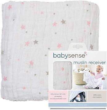 BABY SENSE Manta receptora de Muselina Ba Sense - Suave, cómoda ...