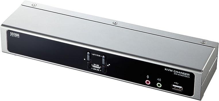 サンワサプライ SW-KVM2HDCN (2:1) デュアルリンクDVI対応パソコン自動切替器