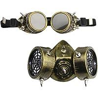 Prettyia Gafas Goggles con Máscara de Remaches Estilo Gótico Punk Juego de Rol para Adultos