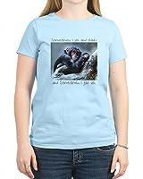 CafePress - Monkey Sits - Womens Cotton T-Shirt, Crew Neck, Comfortable & Soft Classic Tee