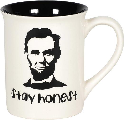 Stay Honest Abe History Coffee Mug