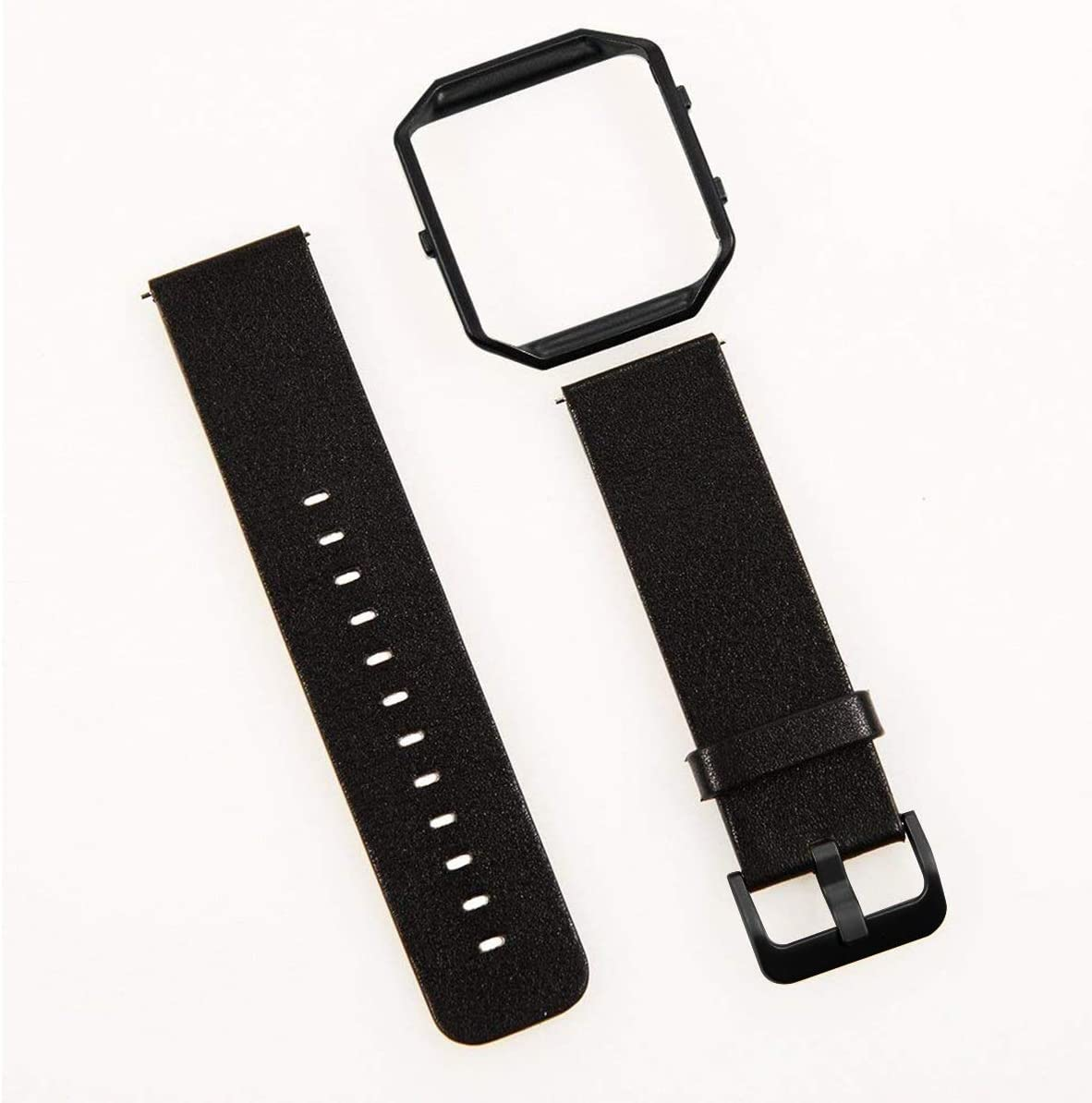 Color : White Leather with Rose Gold, Size : S Topsale-ycld Echtes Leder Uhr Ersatzband Armband Stahlrahmen F/ür Fitbit Blaze Armband