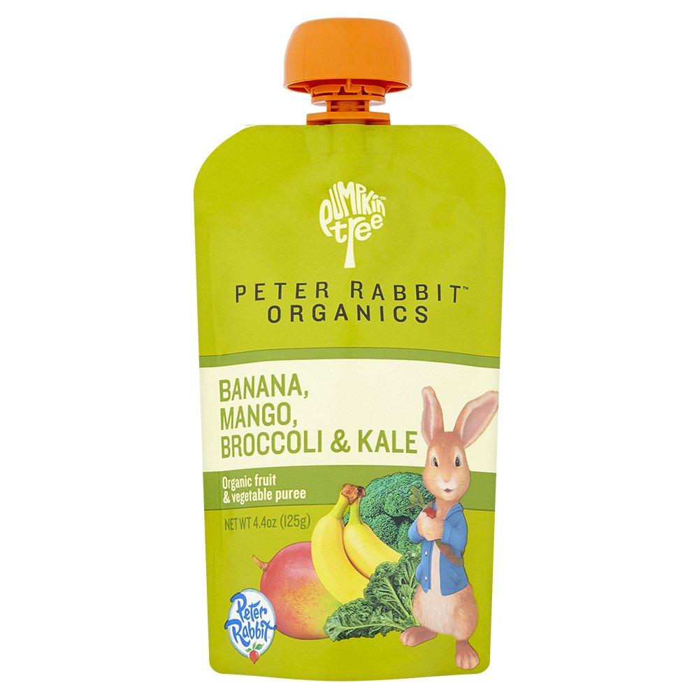 Peter Rabbit Organics Banana, Mango, Broccoli and Kale Puree, 4.4 Ounce Pouches (Pack of 10)