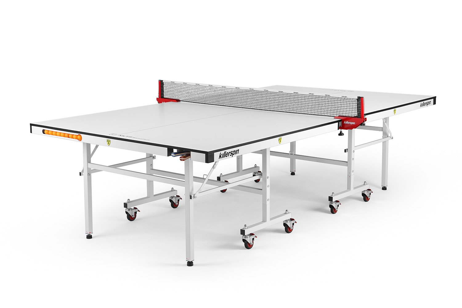 Killerspin MyT5 Bianco Pure Table Tennis Table - White Premium Indoor Ping Pong Table With Tournament-Grade Table Tennis Surface