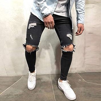 pantalones vaqueros rotos hombre baratos,jeans hombre ...