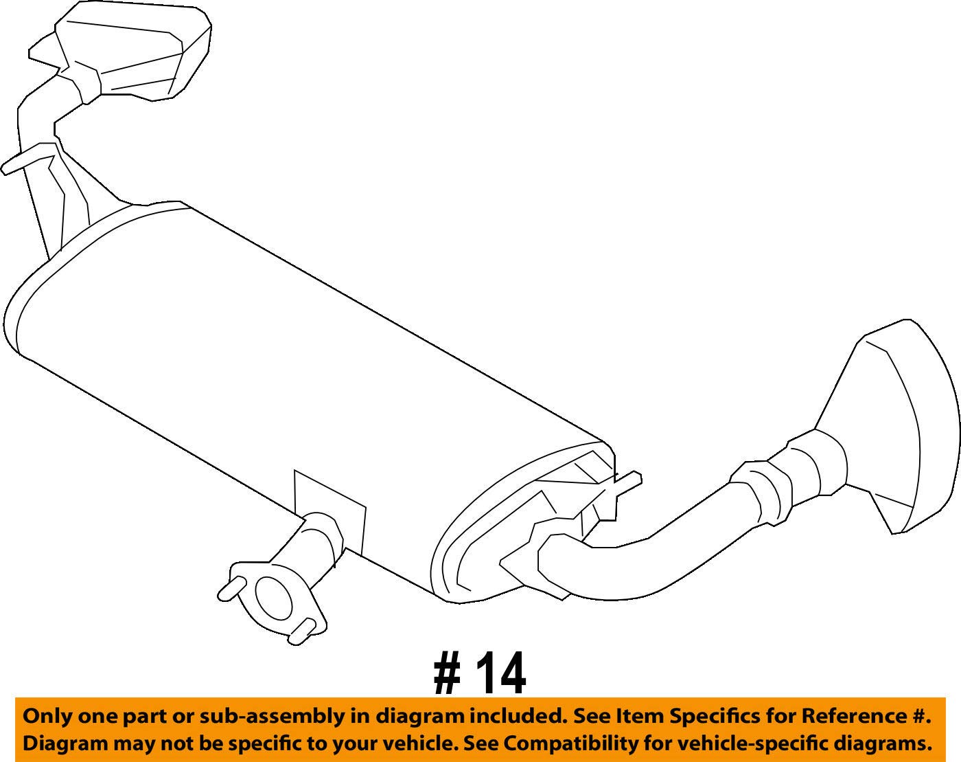 Nissan 20100-5AA2A Muffler Assembly-Exhaust,Main by Nissan (Image #2)