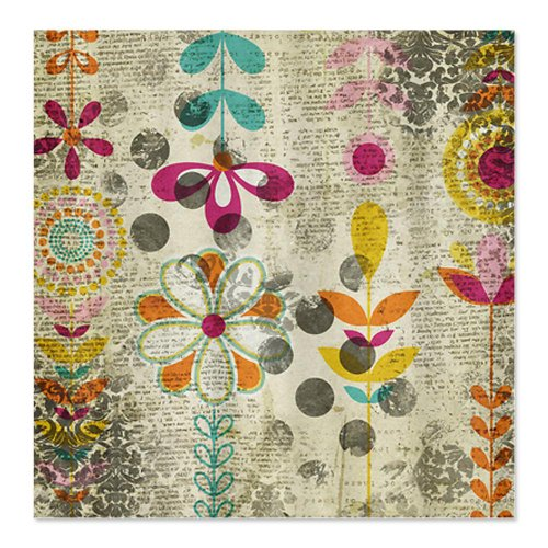 Bohemian Boho Flowers Shower Curtain
