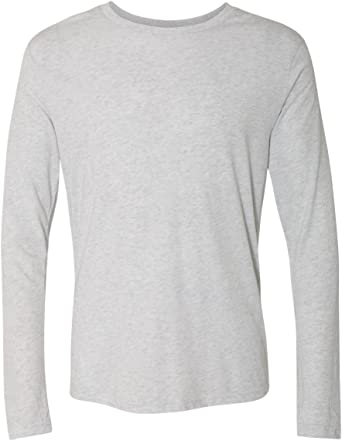 Next Level Mens Tri Blend Long Sleeve Crew Tee (6071)