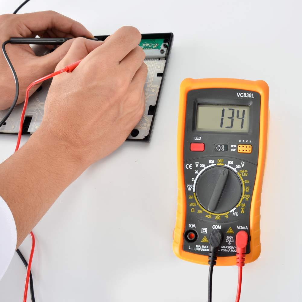 Digital Multimeter Pocket Multimeters Multi Tester Voltmeter Ammeter Ohmmeter AC//DC Ohm Volt Amp and Diode Voltage Tester Meter with Backlight LCD