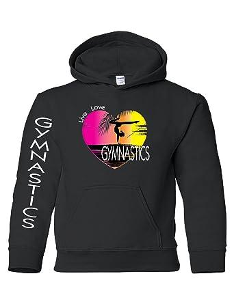 Allntrends Kids Youth Hoodie Gymnastics Pink Print Love Sport Girly Gymnast  (S 702342566