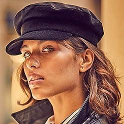 RACEU ATELIER Gorra Otto - Color Negro - Gorras Mujer - Terciopelo de  Algodón - Retro bd1fed2e7e8
