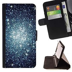 "Bright-Giant (Espacio Estrellas Cluster Cielo Nocturno Universo"") Modelo Colorido Cuero Carpeta Tirón Caso Cubierta Piel Holster Funda Protección Para Sony Xperia Z1 Compact / Z1 Mini (Not Z1) D5503"