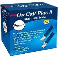 50 Tiras para Medição de Glicose - On Call Plus 2