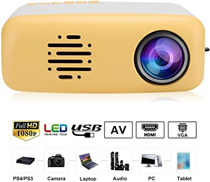 ASHATA Mini proyector portátil, Mini Cute LED HD 1080P Soporte ...