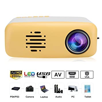 ASHATA Mini proyector portátil, Mini Cute LED HD 1080P Soporte ...