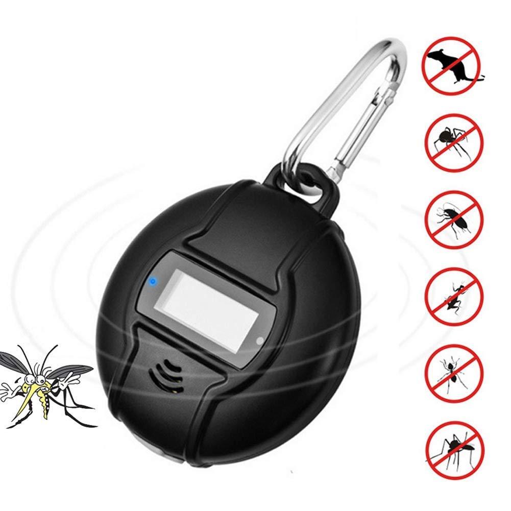 2Packs  M3M Répulsif portatif Solaire de Moustique, répulsif ultrasonique extérieur d'insecte, cÂble USB intégré de Boussole, artefact Intelligent extérieur d'intérieur électronique Anti-Mousti