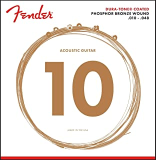 Fender 860XL Phosphor Bronze Dura Tone Coated 10-48