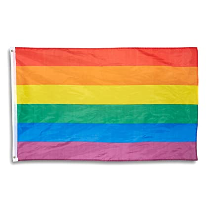 Amazon Com Juvale Rainbow Flag Gay Pride Flag Lgbt Flag For
