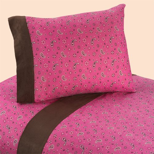 Sweet Jojo Designs 3-Piece Twin Sheet Set for Western Cowgirl Bedding Collection - Bandana Print -