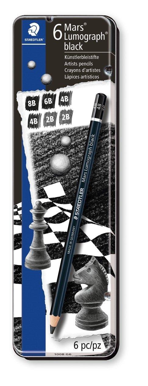 ステッドラー カーボン鉛筆 6本セット